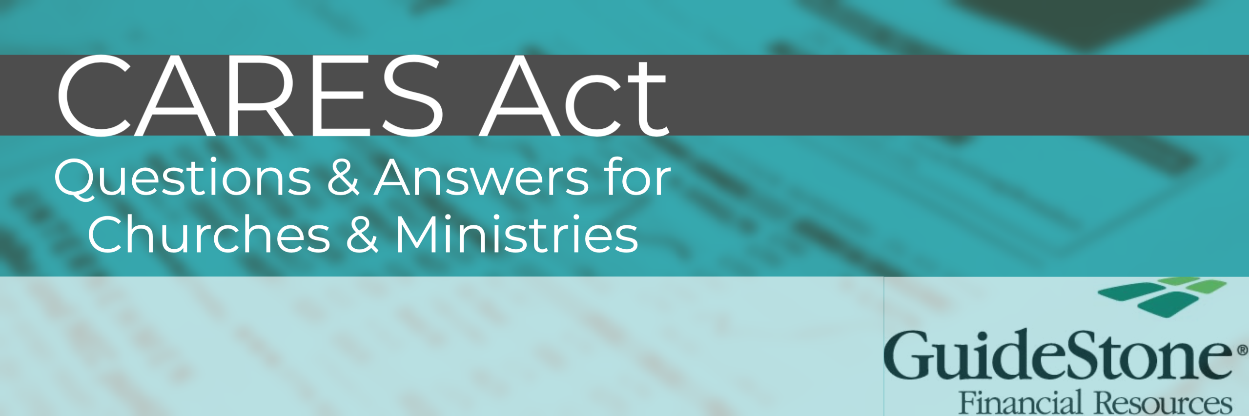 Questions & Answers concerning Federal Assistance available to churches & ministries